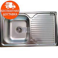 Мойка для кухни стальная Galati Constanta Nova Satin 8487 нержавеющая сталь, фото 1