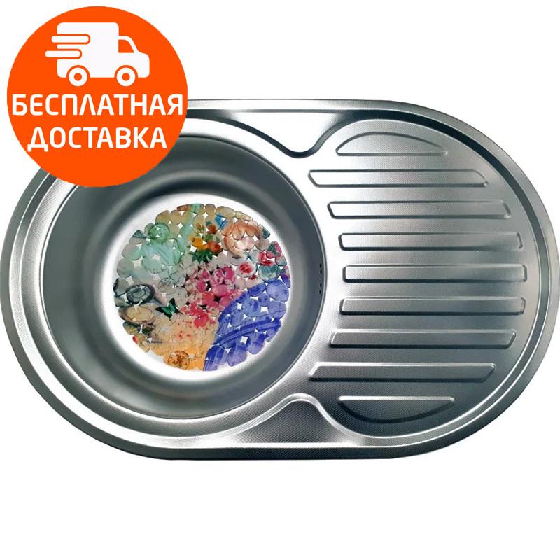 Мойка для кухни стальная Galati Eko Dana Nova Textura 7227 нержавеющая сталь