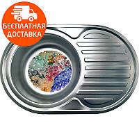 Мойка для кухни стальная Galati Eko Dana Nova Textura 7227 нержавеющая сталь, фото 1