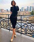 Женское платье бархат бордо бутылка черный S-M M-L, фото 6