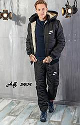 Чоловіча лижний костюм спортивний теплий на овчині в стилі найк розміри 48 50 52 54 Новинка є кольори