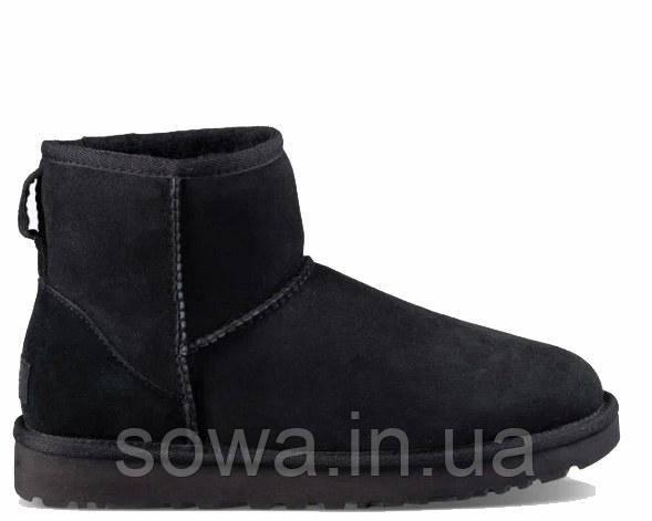 """Женские замшевые угги  UGG CLASSIC MINI II BOOT """"BLACK"""""""