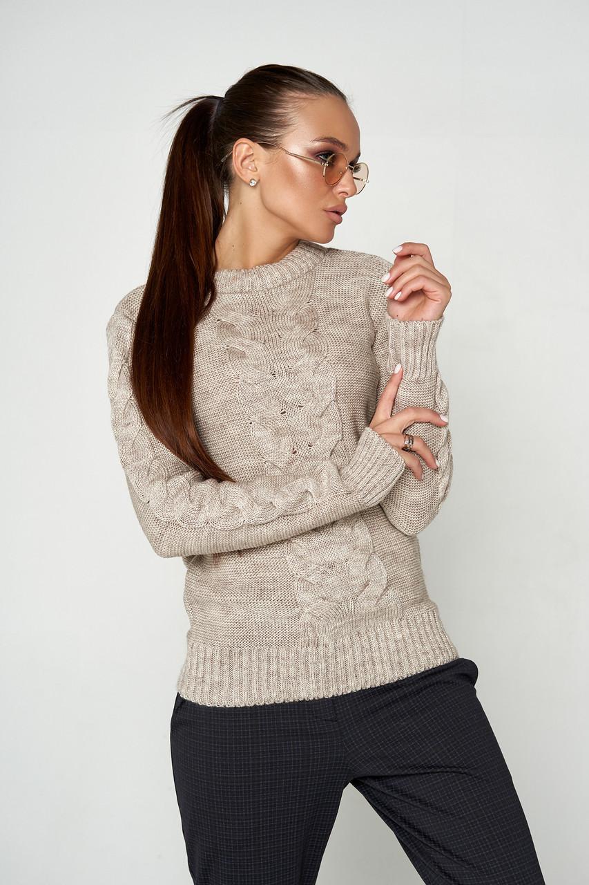 Комфортный свитер классического кроя 44-46 (в расцветках)
