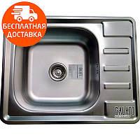 Мойка для кухни стальная Galati Douro Satin 7175 нержавеющая сталь, фото 1