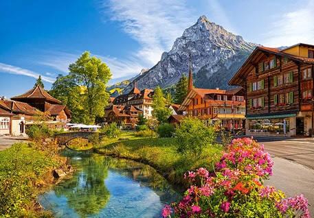 """Кастор пазли 500 """"Кандерштеге, Швейцарія"""" 47*33, В-52363, фото 2"""