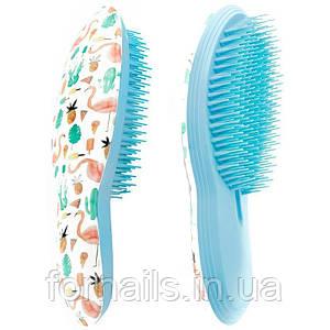 Расческа для распутывания волос, голубая