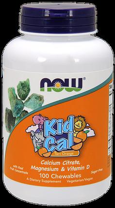 Вітаміни для дітей NOW Foods Kid Cal 100 Chewables, фото 2