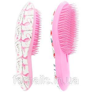 Расческа для распутывания волос, светло-розовая