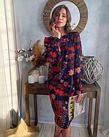 Платье из шифона свободного кроя от украинского производителя, размеры 42-54