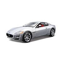 Авто-конструктор Maserati Gran Turismo 1:24 серебристый металлик Bburago (18-25083), фото 1
