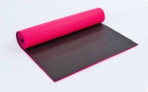 Килимок для фітнесу та йоги PVC 6 мм двошаровий FI-5558
