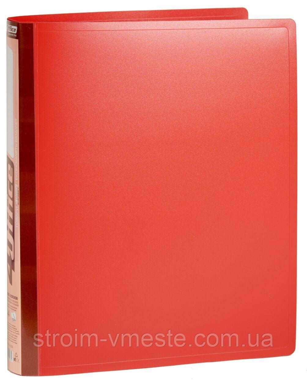 Папка-регистратор A4 4OFFICE 4-230 4 см красная