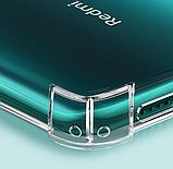 Протиударний TPU тонований чорний чохол PZOZ + Скло для Xiaomi Redmi Note 8 / Скла, фото 6