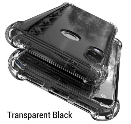 Протиударний TPU тонований чорний чохол PZOZ + Скло для Xiaomi Redmi Note 8 / Скла