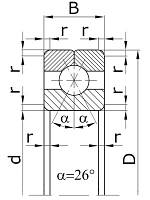 Однорядные с разъёмным внутренним кольцом с 3-х точечным контактом