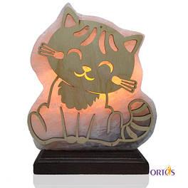 Соляная лампа Панно-ночник Котенок 4.8 кг