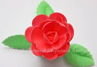 Вафельные цветы «Розы большие сложные красные» 28 шт