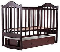 Кровать Babyroom Дина D303 маятник, ящик  венге, фото 1