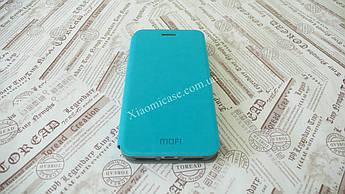 Кожаный чехол Mofi для Xiaomi (Ксиоми) Redmi 4Х Бирюзовый