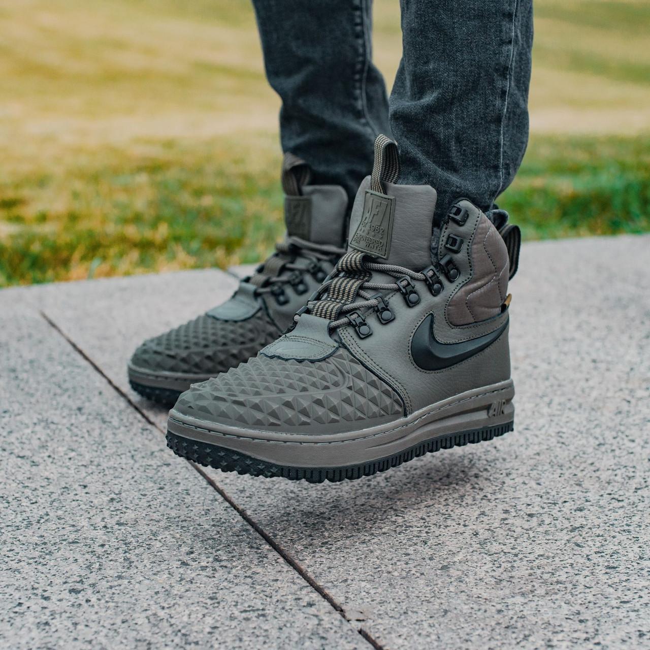 Мужские зимние кроссовки в стиле Nike Lunar Force 1 Duckboot с мехом