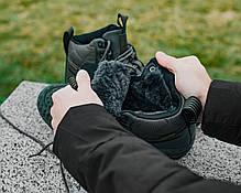 Мужские зимние кроссовки в стиле Nike Lunar Force 1 Duckboot с мехом, фото 3