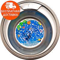 Мойка для кухни стальная Galati Eko Sorin Textura 5487 нержавеющая сталь, фото 1