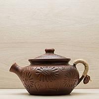 Чайник заварочный из глины  1,5л, фото 1