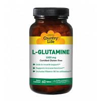 Аминокислоты L-Glutamine (60 таб) Country Life