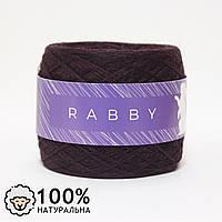 Пряжа меринос RABBY Sweet баклажан 100г