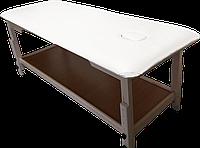 Массажный стол с отверстием для лица PR_008 Белый