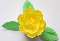 Вафельные цветы «Розы большие сложные желтый» 28 шт
