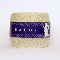 Пряжа с кашемиром и альпакой RABBY Efenia молочная 100г