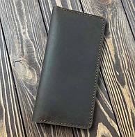 Мужской кошелек из натуральной кожи Besane Classic темно коричневый, фото 1