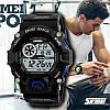 Skmei 1019 черные с чиним спортивные мужские часы, фото 5