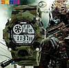 Спортивные мужские часы Skmei 1019 зеленый камуфляж, фото 3