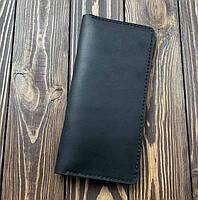 Мужской кошелек из натуральной кожи Besane Classic черный, фото 1