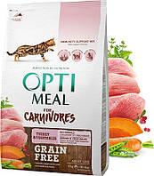 Сухой корм Optimeal Adult Carnivores Turkey 4кг