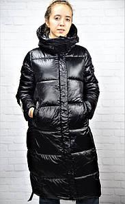 Стеганый зимний молодежный пуховик с капюшоном 44-50 р
