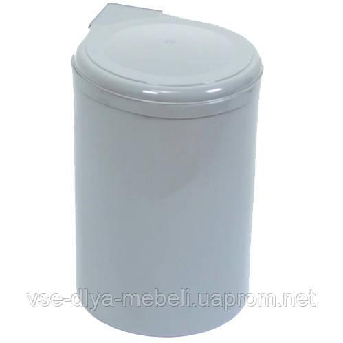 Ведро для мусора пластик белый с крепп.к фасаду (97N INOXA)(Е.)