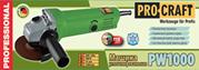 Кутова шліфувальна Машина PROCRAFT PW-1000 115 мм | Польща