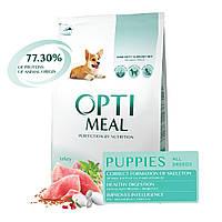 Сухий корм Optimeal Puppies All Breeds Turkey 4кг