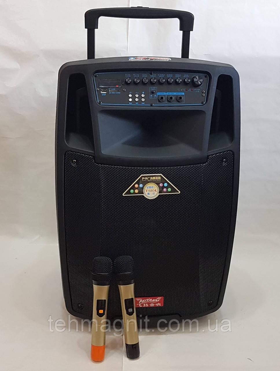 Акустика портативная SL15-01 с микрофонами 400W (USB/Bluetooth/Пульт ДУ)
