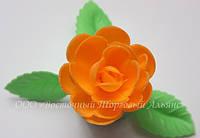 Вафельные цветы «Розы большие сложные абрикос» 28 шт