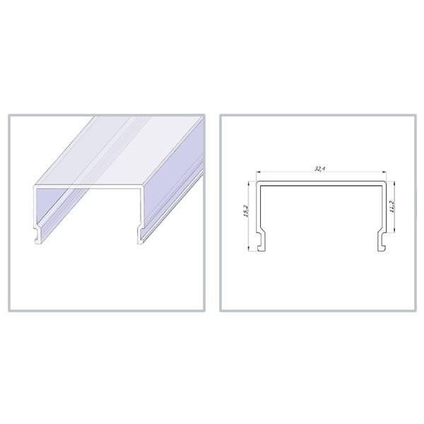 Рассеиватель прямоугольный, матовый, поликарбонат
