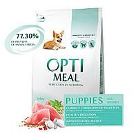 Сухий корм Optimeal Puppies All Breeds Turkey 12кг