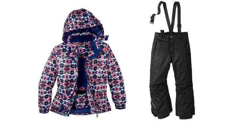Лыжный костюм для девочки (разноцветная куртка и черные штаны) Crivit р.146/152