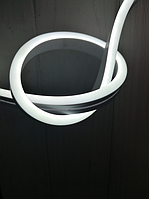 Светодиодный гибкий неон 12V, белый холодный IP68, 6х16мм