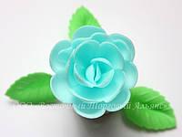 Вафельные цветы «Розы большие сложные голубые» 28 шт