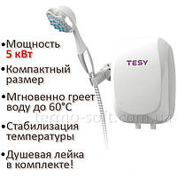 Водонагреватель Tesy проточный 5,0 кВт с душевой лейкой IWH 50 X02 BA H