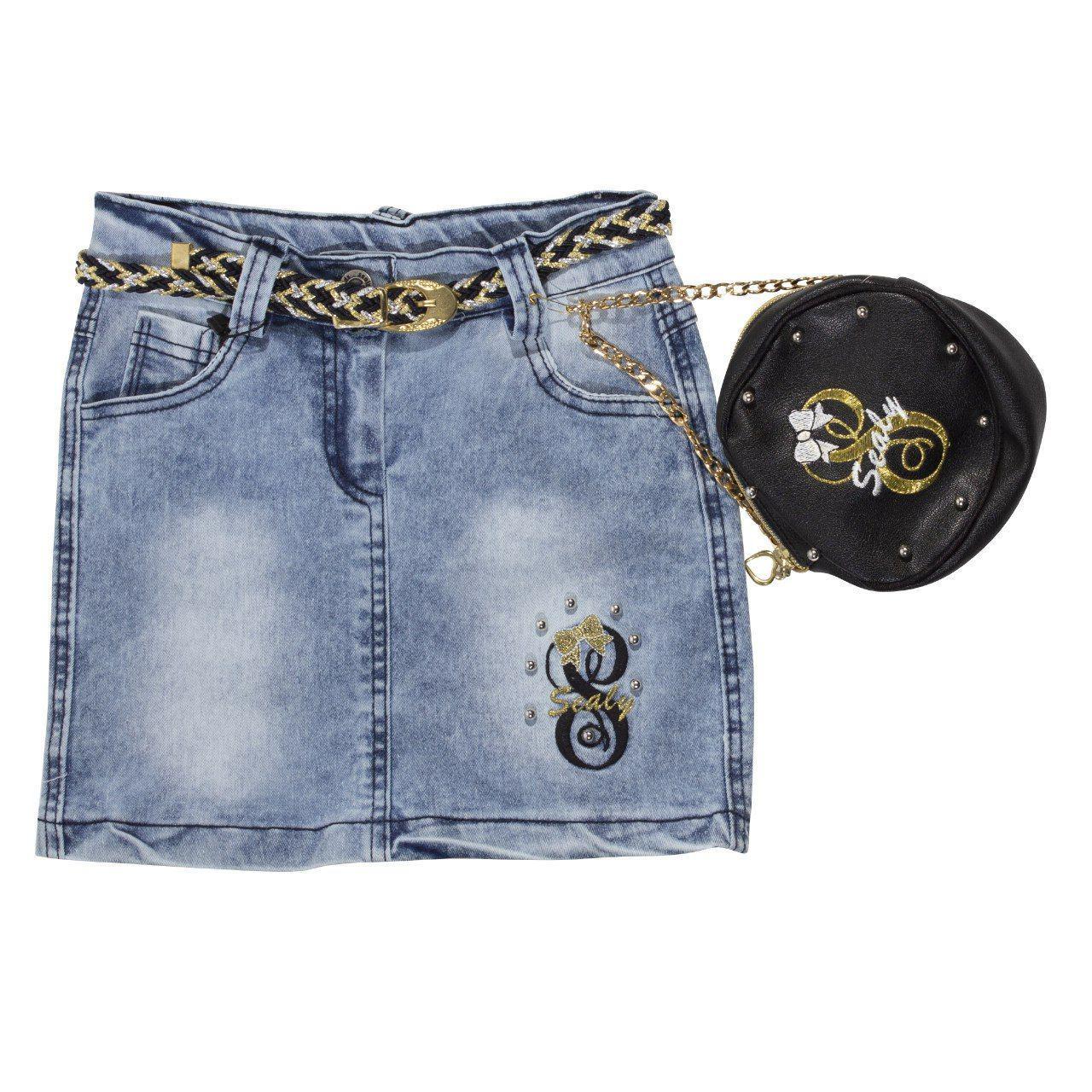 Джинсовая юбка для девочки, размеры 6, 7, 8 лет